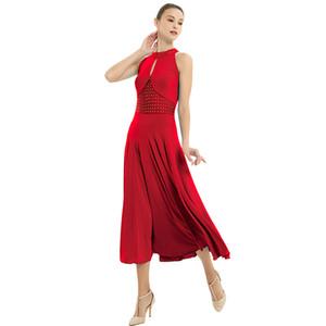 Costume Tango Valsa salão de baile Vestidos Verão New mangas dança do traje Mulheres Waltz Ballroom competição Vestido Dança