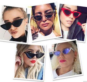 Cat Eye солнцезащитные очки женская мода старинные ретро Cat Eye треугольник солнцезащитные очки UV400 очки Очки открытый очки бесплатно EMS
