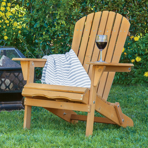 Outdoor Wood Chair Foldable Patio Lawn Deck Garden Furniture