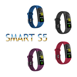 Sport Smart Band Wristband Bracelet IP68 Waterproof Color Screen Heart Rate Blood Pressure Pedometer Fitness Activity Tracker Top Quality