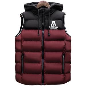 FGKKS uomini di marca di moda con cappuccio gilet giacca invernale gilet maschile senza maniche mens cappotto cappotto impermeabile addensare caldi gilet