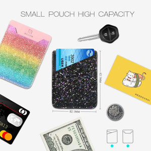 Hot sale Floveme multi-functions cellphone sticker fashionable PU leather cellphone stickers wallet card holder cellphone pouch