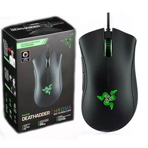 Razer Deathadder Chroma USB Filaire Souris 10000dpi Optique Optique Ordinateur Gaming Sensor Souris Razer Deathadder Gaming Mice