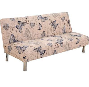PapaMima Butterfly Print Stretch Schnittmuster Keine Armlehnen Sofa Covers Polyester Stoff Soft Slipcovers Elastische Couch Cover