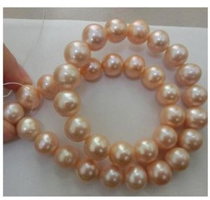 Elegant 10-11mm South Sea Pink Pearl Necklace 18inch 14K Gold Clasp