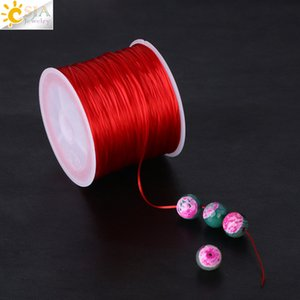 CSJA High Quality 60M Imported 0.25mm Stretch Elastic Crystal Line String Cord Rope Roll Beaded Strand Bracelet DIY Making Multi Color F296