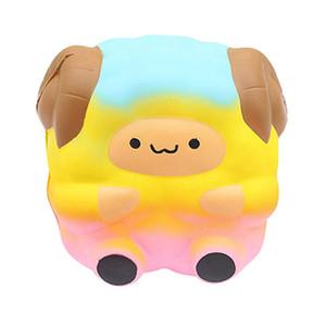 Jumbo Sheep Squishy Bonito Galaxy Rainbow Alpaca Lento Rising Scented Toy Presente Para Crianças Adultos Alivia o Ansiedade Armário de Stress
