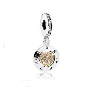 Подходит Pandora стерлингового серебра браслет 10 шт. вы в моем сердце навсегда болтаться бусины подвески для Европейский змея Шарм цепи мода DIY ювелирных изделий