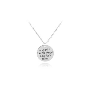 Personalized Memorial Necklace I Used To Be His Angel Now He Is Mine Memorial Jewelry Dad Loss Keepsake Gift Daddy Jewelry