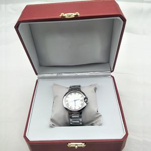 Com Caixa de Mens Relógios de Luxo Mulheres Relógios Moda Calendário De Quartzo Relógio de Pulso Aço Inoxidável Amantes Homens Mulheres Relógio