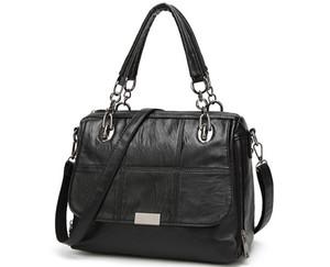 Novo estilo, superfície macia, cadeia, bolsa das mulheres, moda, ombro único, bolsa, europeus e americanos, saco quadrado horizontal