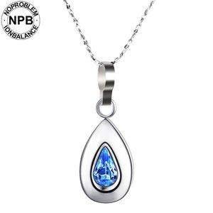 Noproblem 019 терапия капли воды кулон старинные бесконечности магнитный турмалин 99,999% чистого Германия ожерелья
