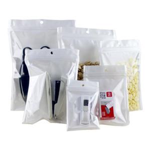 impermeável branco pérola plástico Poly OPP embalagem com zíper bloquear Retail Pacotes Jóias comida PVC doces plástico válvula varejo saco da embalagem