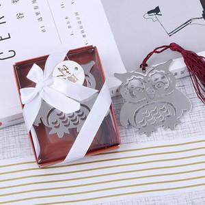 Metal Owl Bookmark Favores y regalos de boda Marcadores de libros de animales Invitados de la fiesta Giftbox para niños