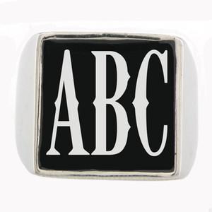 FANSSTEEL на заказ из нержавеющей стали мужские wemens ювелирные изделия 3 буквы цифры инициалы алфавит имя кольцо персонализированные индивидуальные подарок