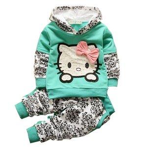 BibiCola 2018 roupa nova Bebés Meninas define Crianças hoodies roupas primavera outono definir crianças desporto agasalho criança outwear Pants +