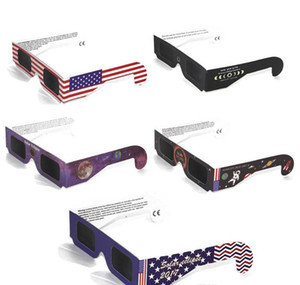 2017 USA Solar Eclipse Glasses Paper Solar Glass Viewing Eyeglasses Protect Your Eyes Safe when 21th August DHL Free Fast Shipping