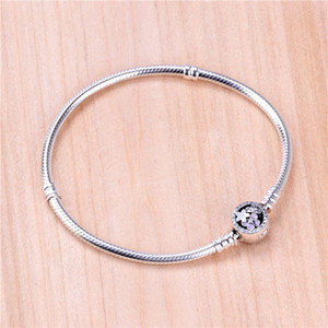Plata esterlina 925 Poetic Blooms Mixed Enamels Bracelet Se adapta a Pandora Style European Jewelry Charms Beads real pulseras de plata para las mujeres
