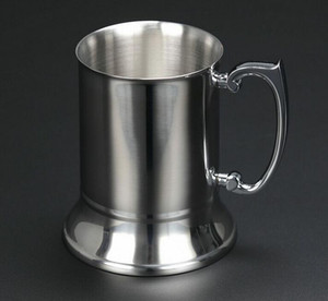 Yüksek kaliteli ayna 450ml 16 ons çift cidarlı paslanmaz çelik kupa