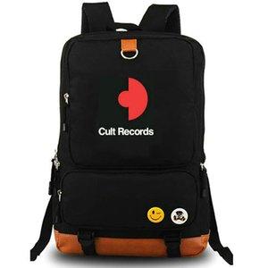 Cult records zaino Etichetta indipendente zainetto Zaino musicale Zaino per il tempo libero Sacca da scuola in tela Pacco da giorno per esterni