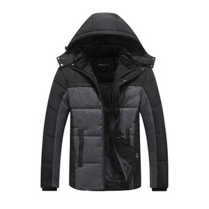 Chaqueta abrigada de invierno de marca para hombres Abrigos con capucha Casual Abrigo grueso para hombre Hombre Slim Casual Algodón Acolchado Casual Cálido