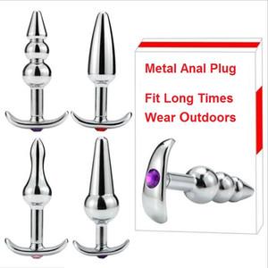 New Metal In Acciaio Inox Anale Plug Anus Perline Expander Stimolatore Butt Plug Dilatatore Dildo Adulto Masturbazione Giocattolo Del Sesso Per Coppie Uomini Donne