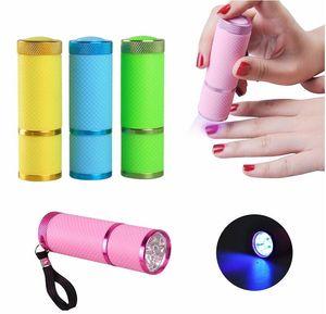 Mini séchoir à ongles lampe de poche LED portable pour Dryer rapide Gel Nail Cure Nail Gel Cure manucure outil