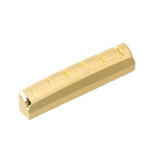 43x6mm Brass Nut Slotted for 6-String Acoustic Guitar Parts