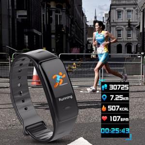 C1S Rastreadores de Fitness Atividade Pulseira Inteligente Monitor de Pressão Arterial de Freqüência Cardíaca Ip67 À Prova D 'Água Inteligente Wristand Para Smartphone