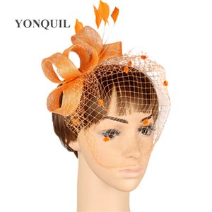 17 colors Enchanting sinamay material fascinator headpiece cocktail headwear race hat suit for all season MYQ006
