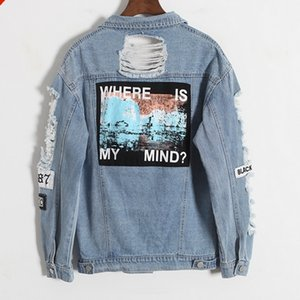 Женская верхняя одежда пальто новые джинсы куртка женщины джинсовые сломанной BF свободные Jaqueta Feminina джинсы женщины основные пальто 6CT013