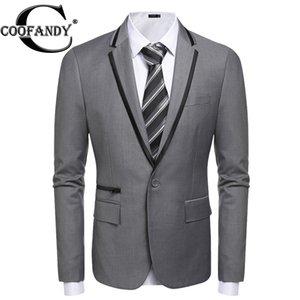 COOFANDY Men One Button Blazer Suit 재킷 긴팔 캐주얼 작업 슬림 피트 싱글 버튼 블레이저 미국 사이즈 S / M / L / XL / XXL