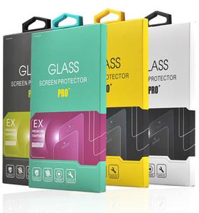 membrana de vidro temperado com embalagem ganchos de papel de embalagem película de segurança do telefone móvel universal da concessão