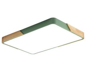rectangle salon en bois massif Creative Slim 5cm led plafonniers 220v Europe du Nord lumière de chambre