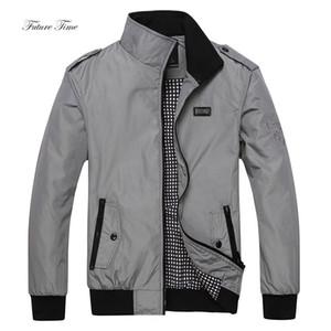 2018 uomini di inverno del rivestimento Smart Casual collare del basamento Giacche Solid Plus Size Zipper Cappotti maschile Affari Silm Fit WY026 Giacca