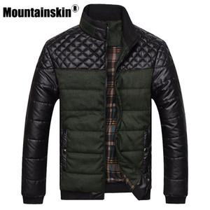 Mountainskin Marke Herren Jacken und Mäntel 4XL PU Patchwork Designer Jacken Männer Oberbekleidung Winter Fashion Male Clothing SA004
