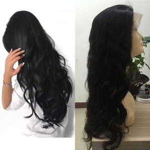 Body Wave Frontal Lace Wigs Pre Plucked Natural Hairline 150% Density Real Peruvian Human Hair Wigs for Women Natural Color Can Be Dyed