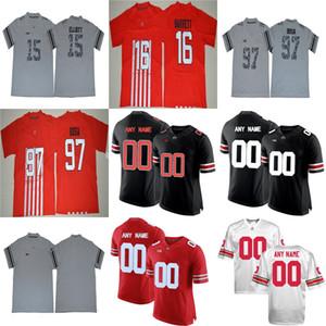 Custom Ohio State Buckeyes Black White Red Gray Fashion Dobbins Barrett IV Bosa Baker cosido Cualquier nombre No. College Football Jerseys S-3XL