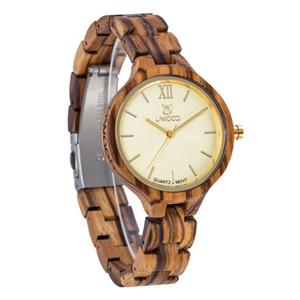 2018 Hot Fashion Casual Uwood Luxury Watch Reloj de madera Mujer Natural Vintage Quartz Wood Dress Reloj Reloj. Regalo de las señoras
