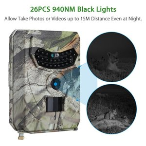 2020-New exterior Caça câmera 110 graus Wide Angle Infrared Night Vision HD 1080p Hunting Scouting Camera de Stealth Hunting Camera