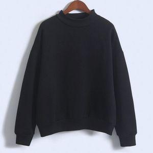 Mode Femmes Sweatshirt L'Europe Et Les États-Unis Bonbons Code De Couleur Solide Lâche À Manches Longues Harajuku Style Pull Cachemire Hoodies