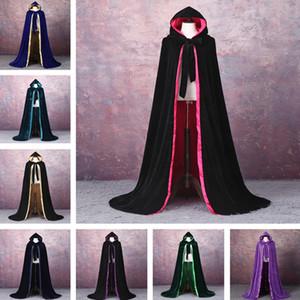 Velvet mantello invernale Wedding capo del mantello del calore di nozze sposa Mantello economico Wicca Robe Wram Natale Piano Lunghezza Lunga giacca da sposa