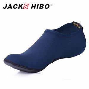 JACKSHIBO Verano Nuevos Hombres Zapatillas Zapatillas para hombre Zapatillas Aqua Zapatillas para playa Parque acuático Sandalias Azul marino Zapatos Hombre