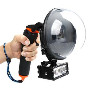 Tauchen Dome Port wasserdichte Gehäuse Fall Abdeckung für GoPro Hero 5/6 Kamera auslösen
