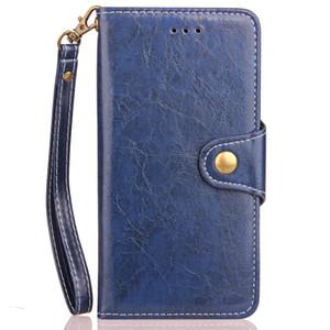 5 unids logotipo personalizado impresión billetera de cuero TPU con bolsillo de tarjeta para iphone 7 Plus Samsung S8 Plus S7 borde Redmi 4X