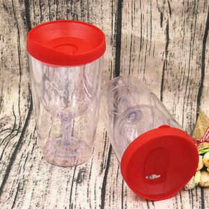 цвет изолированные вина стакан чашки шампанского чашки 10oz stemless пластиковые бокалы с крышкой скольжением многоцветной 15 шт.