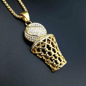Lujoyce обледенелый Bling полный горный хрусталь мужчины баскетбол подвески ожерелья баскетбол № 23 из нержавеющей стали Спорт Ожерелье для мужчин ювелирные изделия