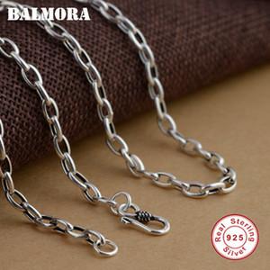 BALMORA 100% Reale 925 Sterling Silver Collane per Donna Uomo 20-30 pollici Catene Accessori Moda, Gioielli Bijoux CK0002
