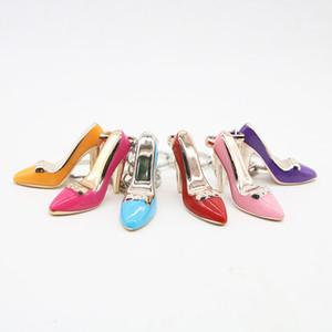 EM ESTOQUE! 6 Diferentes Salto Alto Chaveiros Mulheres Bolsa Encantos-chaves Bolsa Pingente Carros Titular Mini Shoe Chaveiro Buckle Suspensos