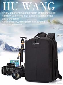 HUWANG Multi-functional Waterproof Dual Shoulder Backpack Padded Shockproof Camera Case Bag Outdoor Sports SLR Camera Soft Bag